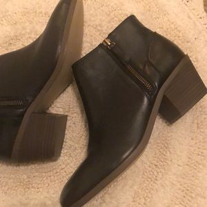 Gap Leather Ankle Boots Booties Size 9 Black